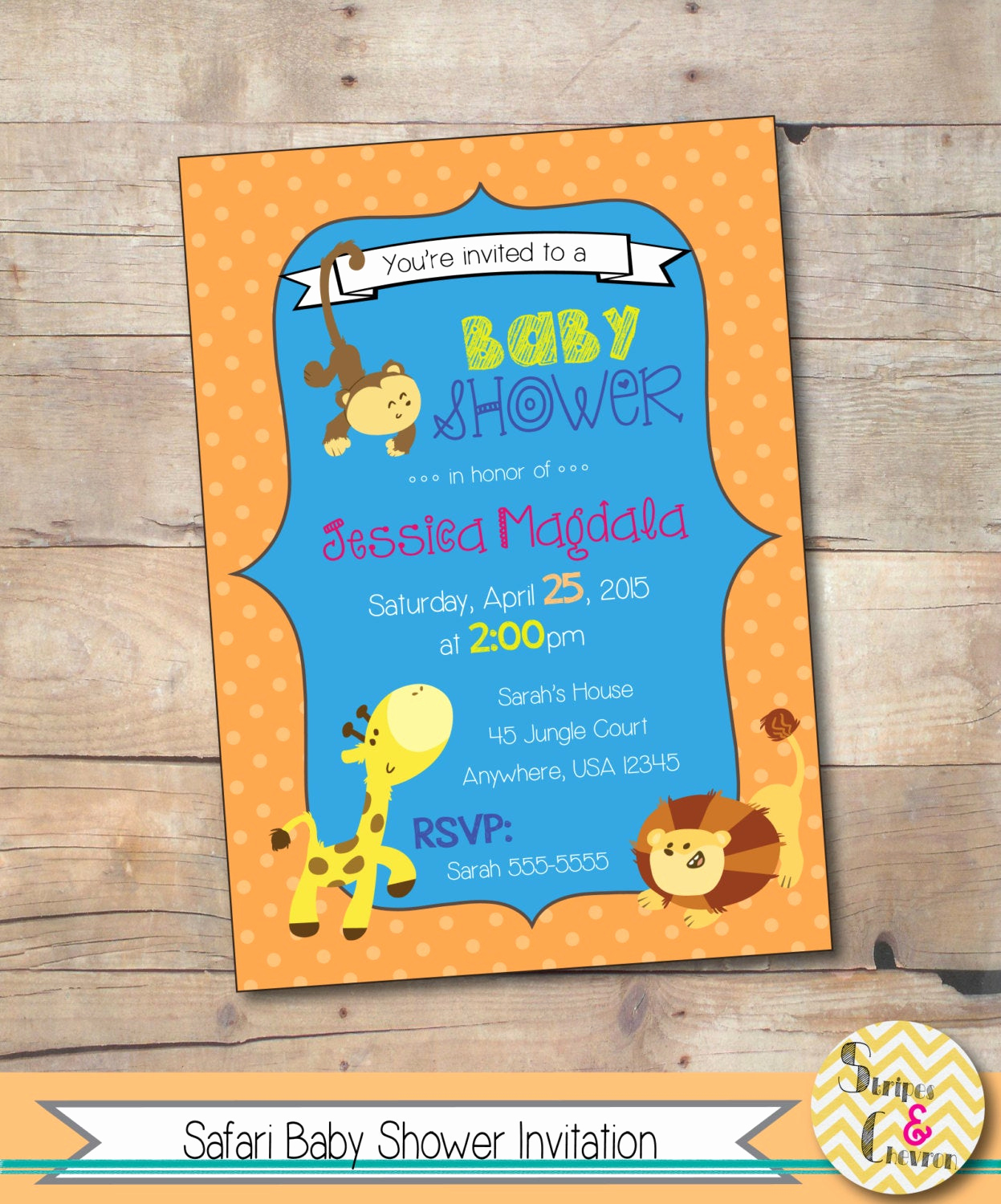 Baby Shower Safari Invitation Awesome Safari Baby Shower Invitation Jungle theme Baby Shower