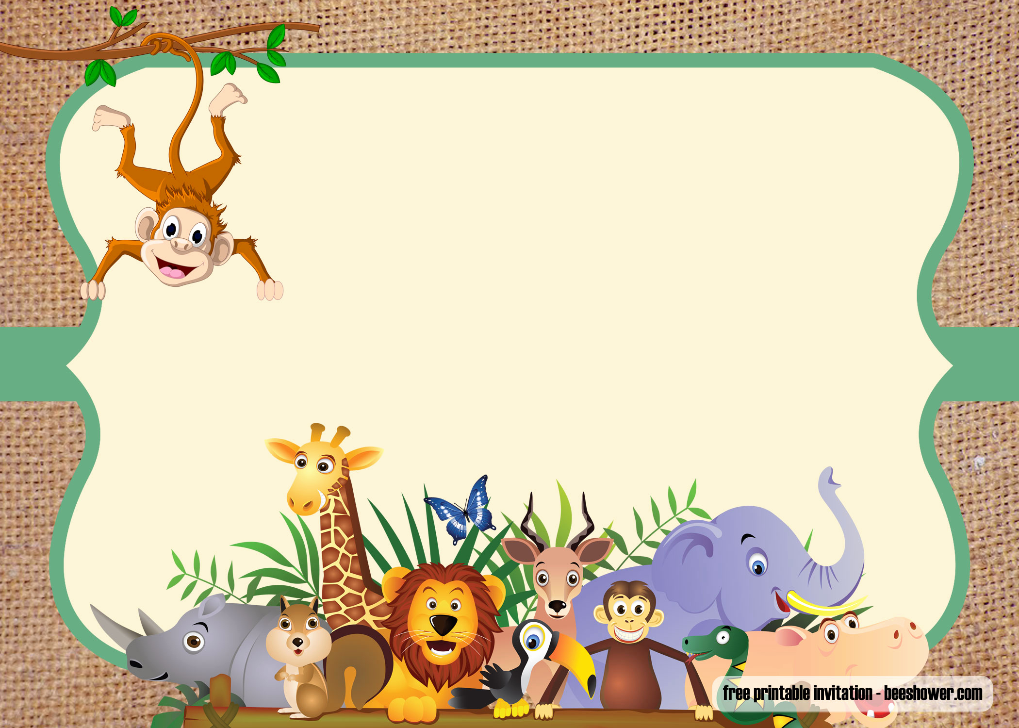 Baby Shower Safari Invitation Best Of Free Safari theme Baby Shower Invitations Templates