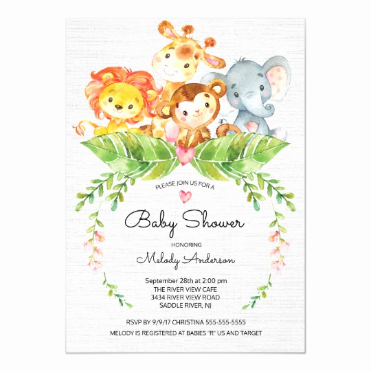 Baby Shower Safari Invitation Best Of Sweet Safari Jungle Baby Shower Invitation