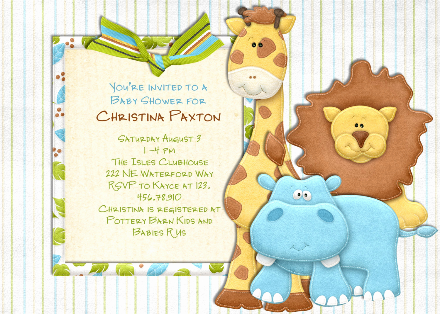 Baby Shower Safari Invitation Fresh Jungle Baby Shower Jungle Invitation Safari Baby Shower