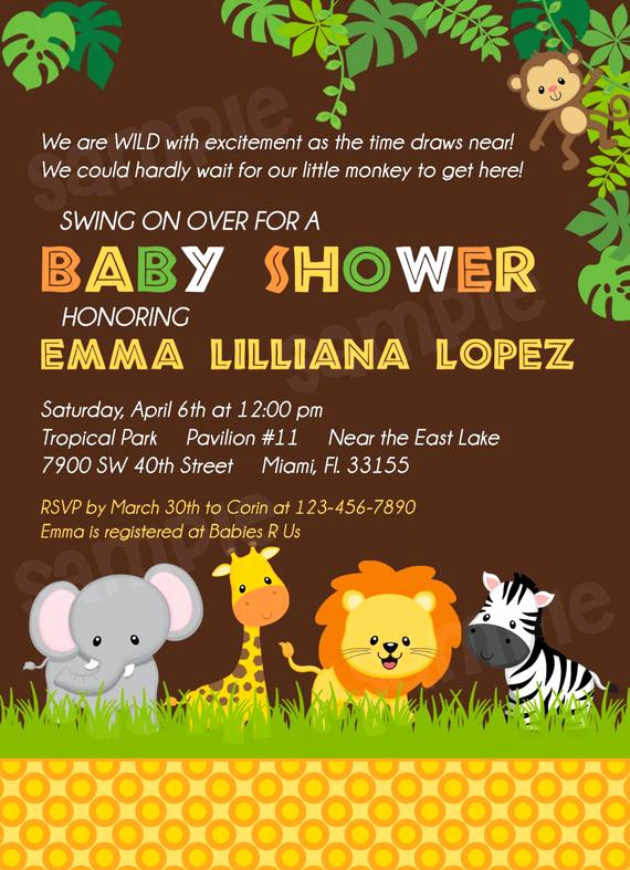 Baby Shower Safari Invitation Fresh Safari Baby Shower Invitation Jungle Baby Shower by