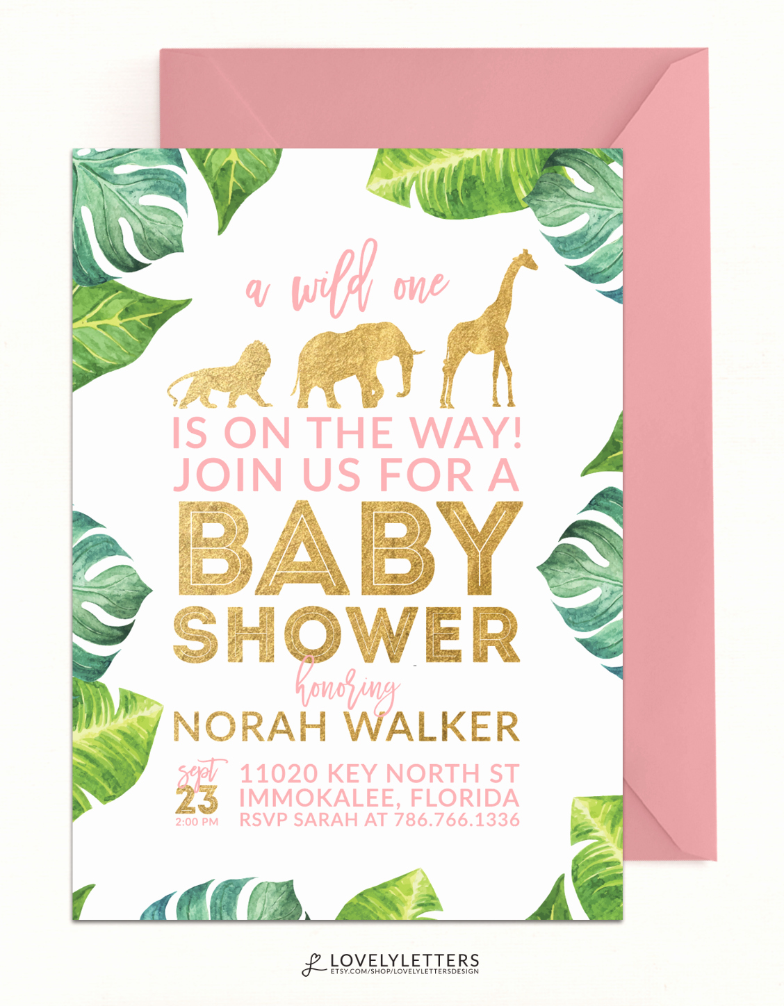 Baby Shower Safari Invitation Inspirational Safari Shower Invitation Golden Baby Shower Invitation