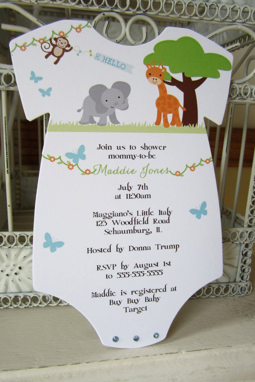 Baby Shower Safari Invitation Inspirational the original Zoo or Jungle theme Baby Shower Invitation