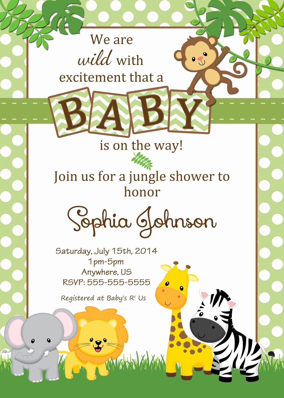 Baby Shower Safari Invitation Luxury Free Safari Baby Shower Invitations Google Search