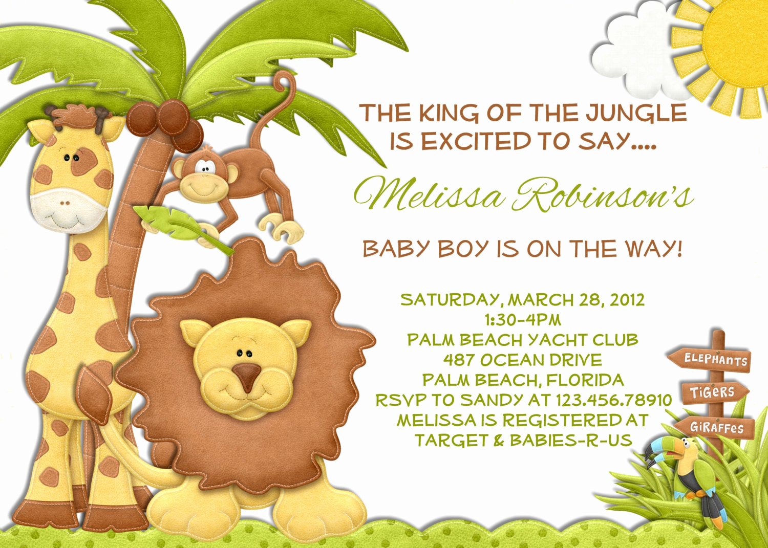Baby Shower Safari Invitation Unique Jungle Boy Baby Shower Invitation Lion Giraffe Monkey Invite