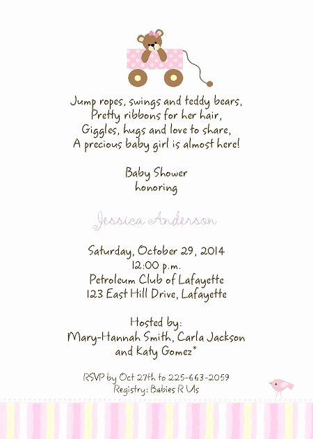 Baby Sprinkle Invitation Wording Awesome Baby Shower Invitation Wording