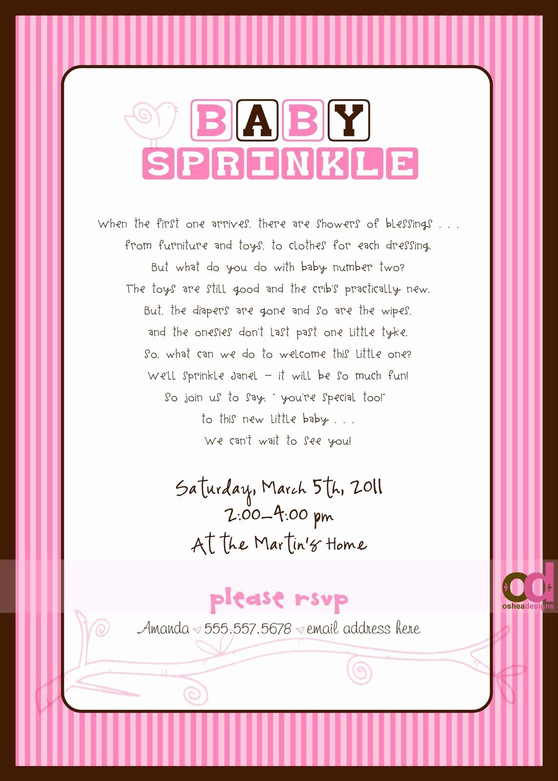 """Baby Sprinkle Invitation Wording Best Of """"sprinkle"""" Invitations Wording Wish I Would Have Found"""