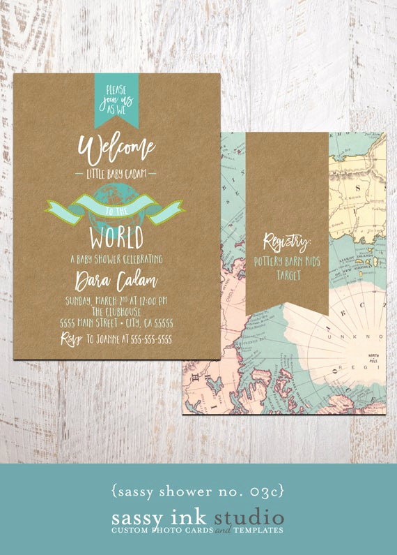 Baby Welcome Party Invitation Beautiful Baby Shower Invitation Wel E to the World by Sassyinkstudio