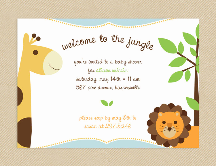 Baby Welcome Party Invitation Best Of Printable Baby Shower Invitation 5x7 Wel E to the Jungle
