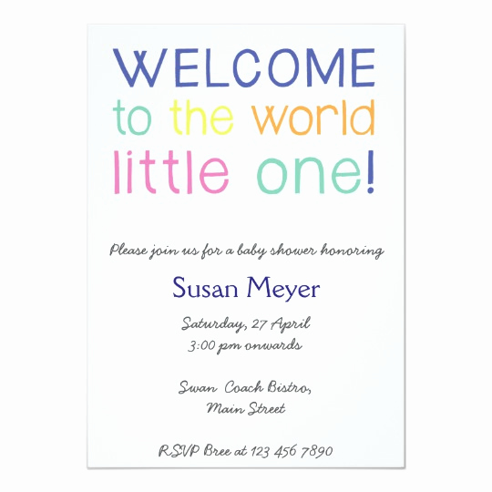 Baby Welcome Party Invitation Fresh Wel E to the World Little One Baby Shower Invite