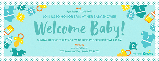 Baby Welcome Party Invitation Inspirational Line Baby Shower Invitations Evite