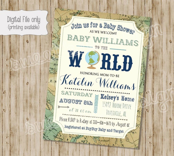 Baby Welcome Party Invitation Inspirational Wel E to the World Baby Shower Invitation Baby Boy or Baby