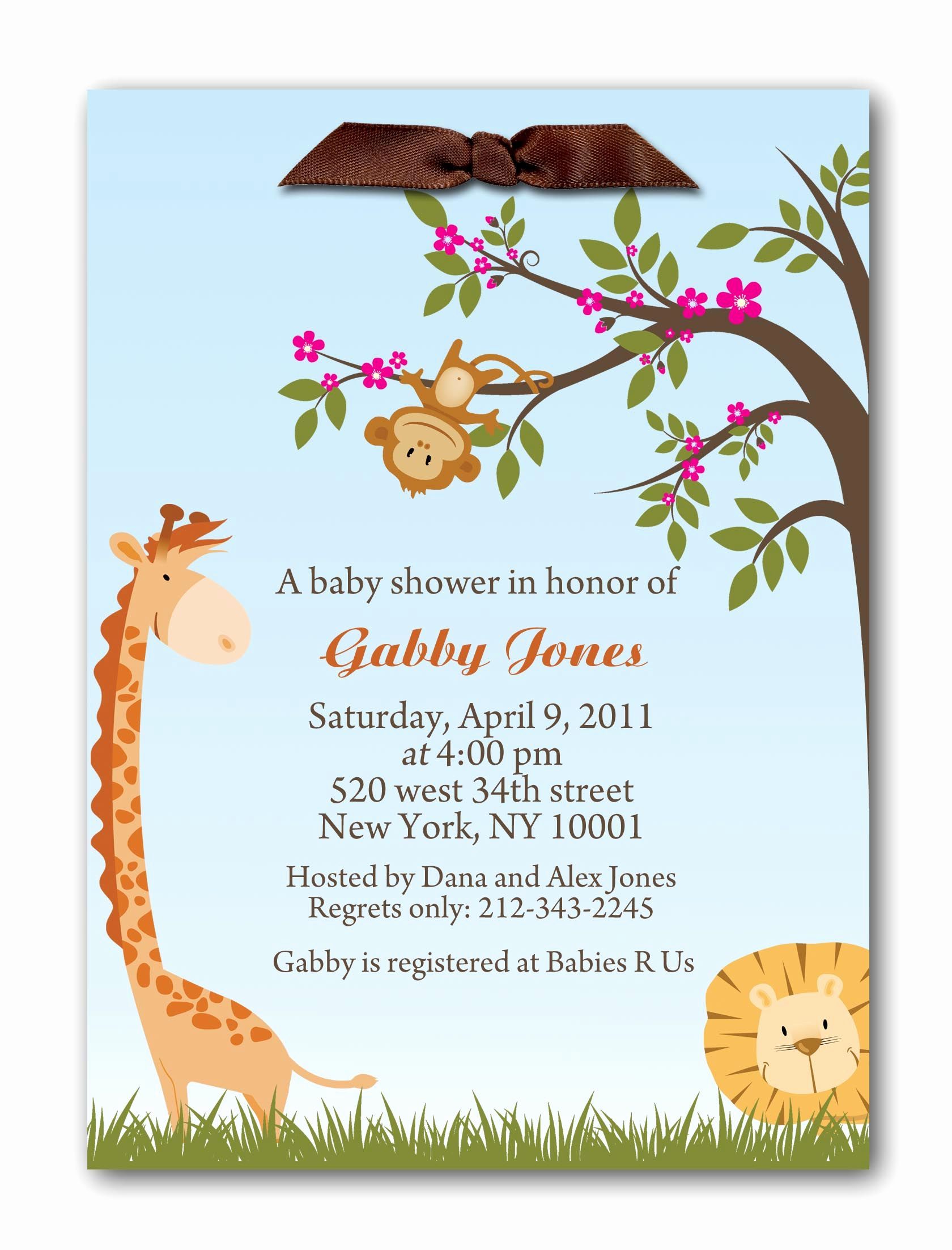 Baby Welcome Party Invitation Lovely Wel E to the Jungle Baby Shower Invitations