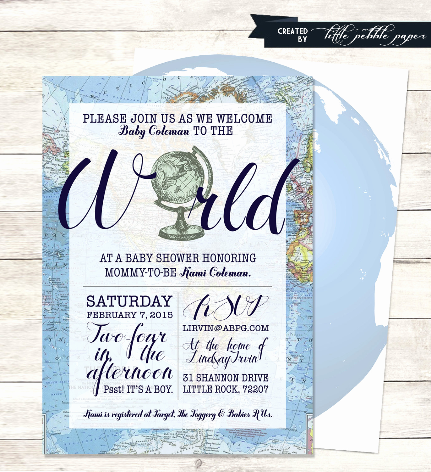 Baby Welcome Party Invitation Luxury Blue Wel E to the World Baby Shower Invitation Printable