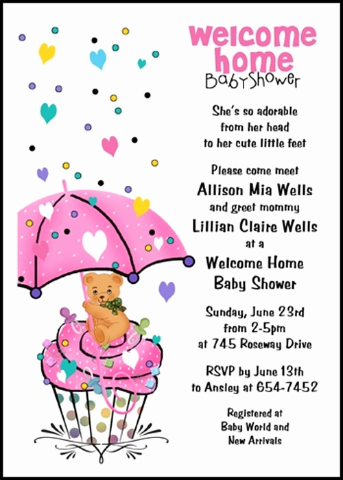 Baby Welcome Party Invitation New Wel E Home Baby Invitations Wording Cobypic