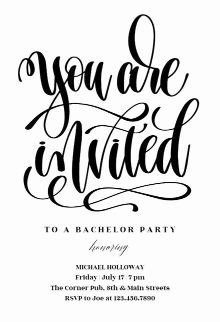 Bachelor Party Invitation Templates Awesome Bachelor Party Invitation Templates Free