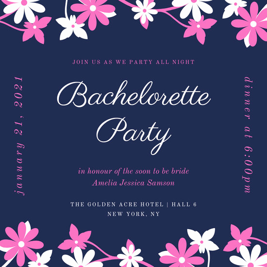 Bachelor Party Invitation Templates Beautiful Customize 93 Bachelorette Party Invitation Templates