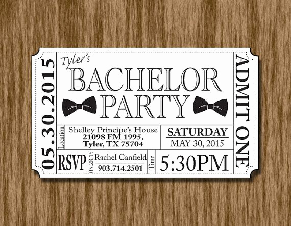 Bachelor Party Invitation Templates Elegant Beer Bottle Bachelor Party Ticket Invitation Template In