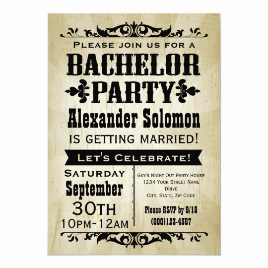 Bachelor Party Invitation Templates Elegant Vintage Country Bachelor Party Invitation