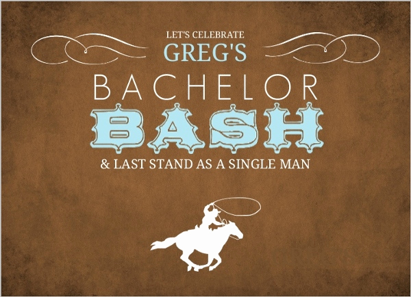 Bachelor Party Invitation Templates Elegant Western Cowboy Bachelor Party Invitation