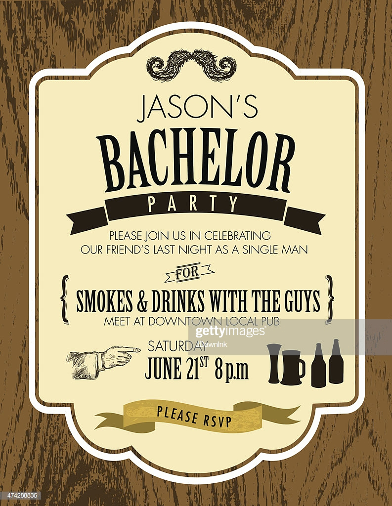 Bachelor Party Invitation Templates Fresh Elegant Bachelor Party Invitation Design Template Oak