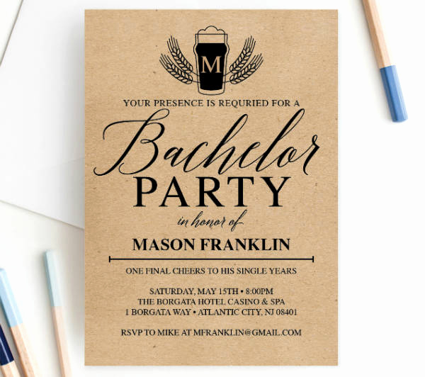 Bachelor Party Invitation Templates Inspirational 12 Bachelor Party Invitation Designs & Templates Psd