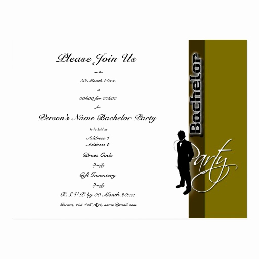 Bachelor Party Invitation Templates Inspirational Template Bachelor Party Distinguished Invitations Postcard