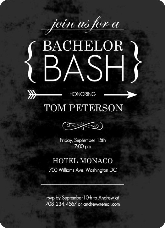 Bachelor Party Invitation Templates Lovely Chalk Board Black Bachelor Party Invitation by Purpletrail