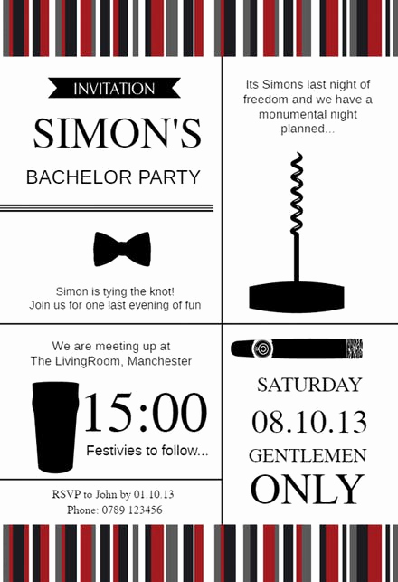 Bachelor Party Invitation Wording Beautiful Bachelor Party Invitation Templates Free