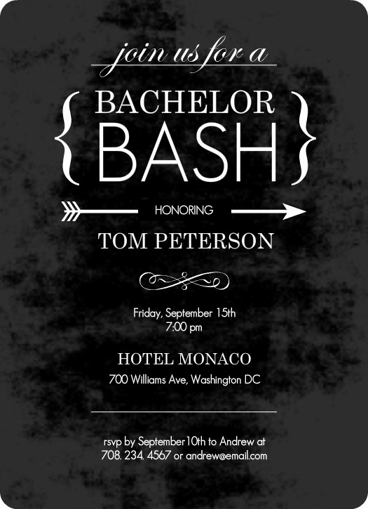 Bachelor Party Invitation Wording Beautiful Customizable Chalk Board Black Bachelor Party