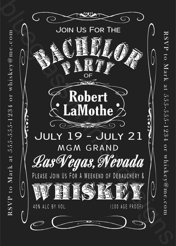 Bachelor Party Invitation Wording Fresh Jack Daniels Bachelor Party Weekend 5x7 by Bluegrasswhimsy