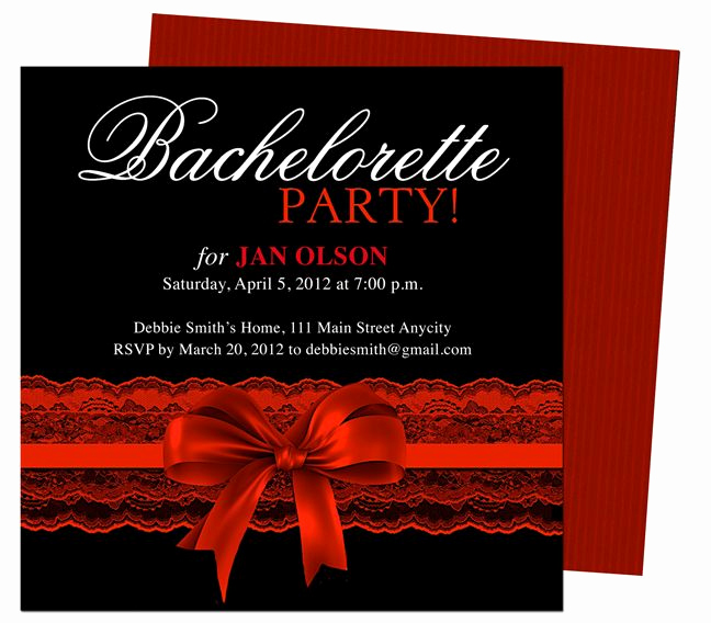 Bachelorette Party Invitation Ideas Awesome Bachelorette Party Invitations Templates Scarlet Red