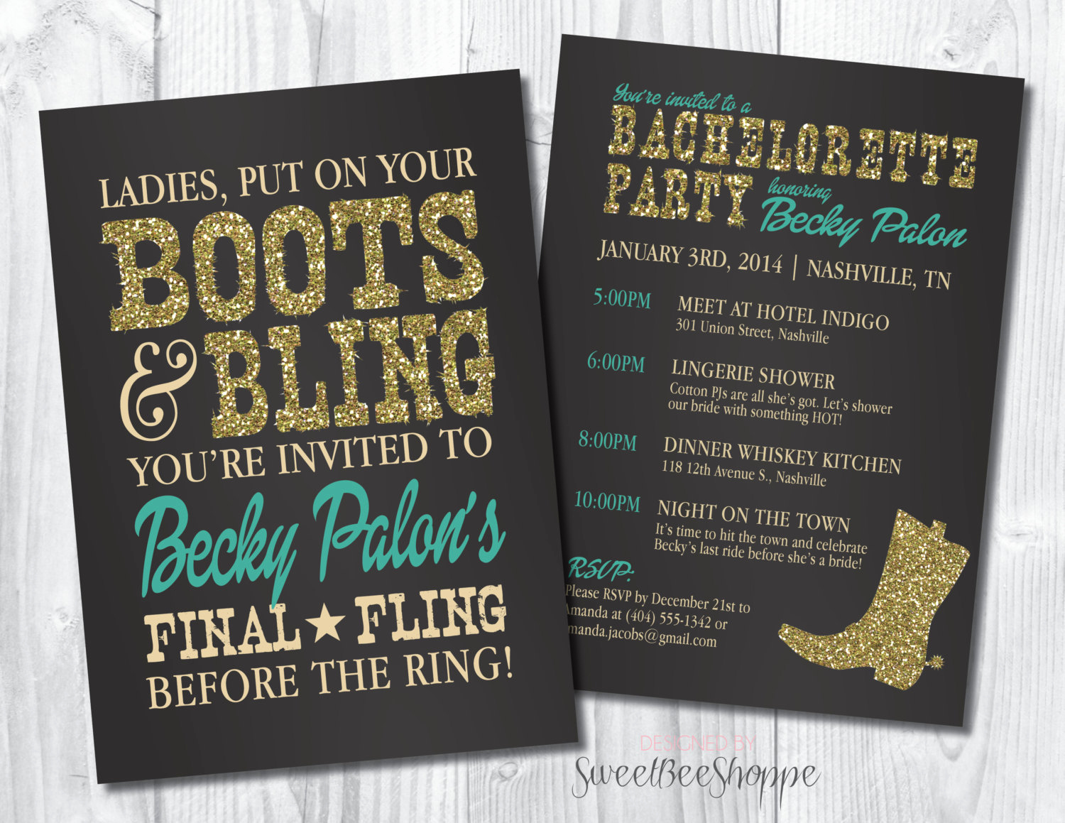 Bachelorette Party Invitation Ideas Awesome Country Western Bachelorette Party Invitation by