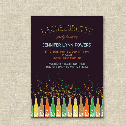Bachelorette Party Invitation Ideas Awesome Unique Wine themed Colorful Bachelorette Party Invites