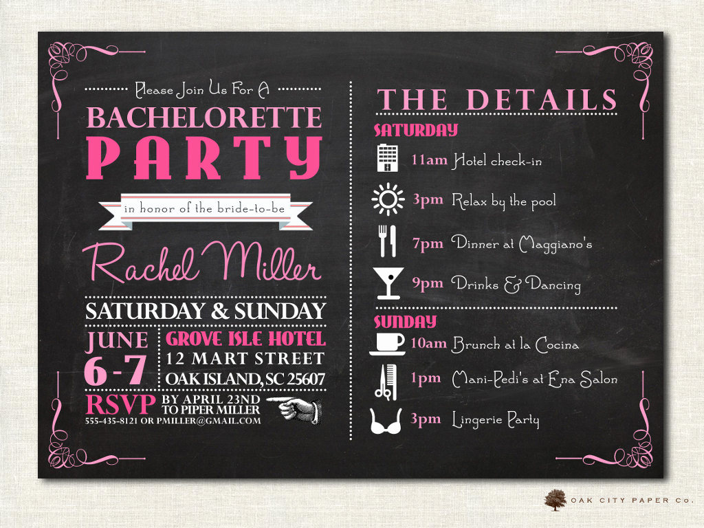 Bachelorette Party Invitation Ideas Elegant Bachelorette Invitation Bachelorette Party Invitation