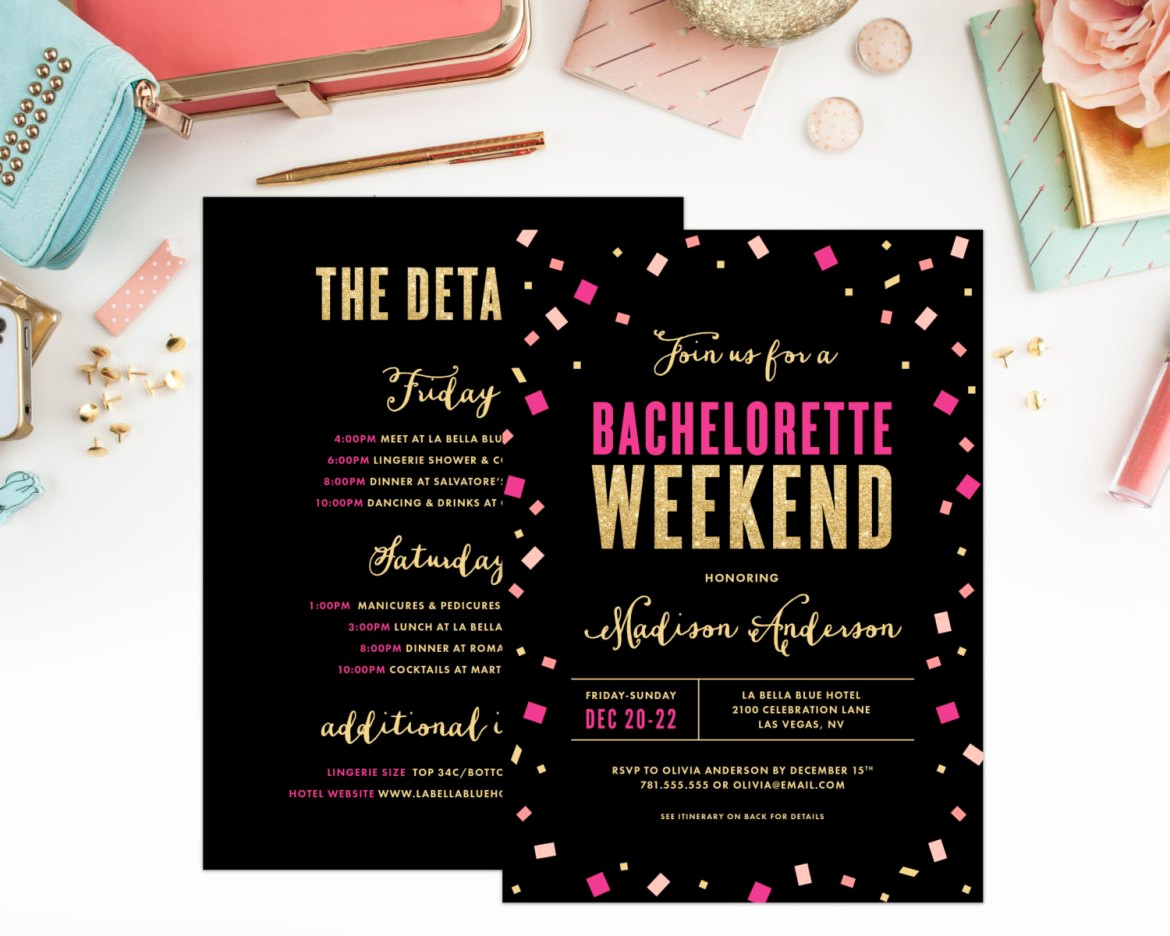 Bachelorette Party Invitation Ideas Inspirational 18 Fun & Easy Hot Pink and Black Bachelorette Party Ideas