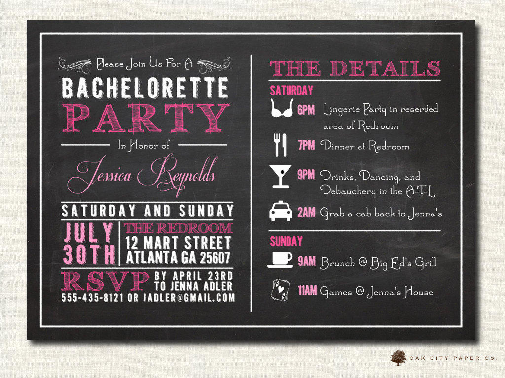 Bachelorette Party Invitation Ideas Lovely Bachelorette Invitation Bachelorette Party Invitation