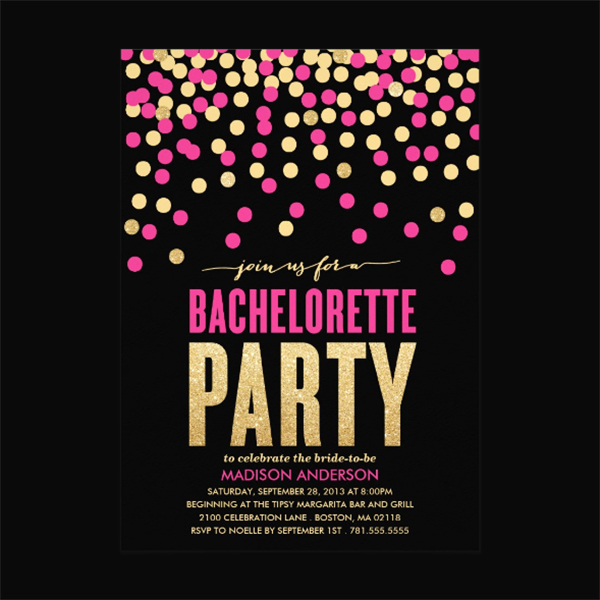 Bachelorette Party Invitation Template Beautiful 29 Party Invitation Templates