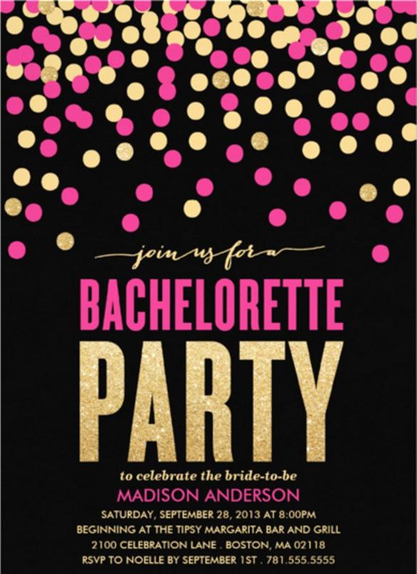 Bachelorette Party Invitation Template Beautiful 32 Bachelorette Invitation Templates Psd Ai Word