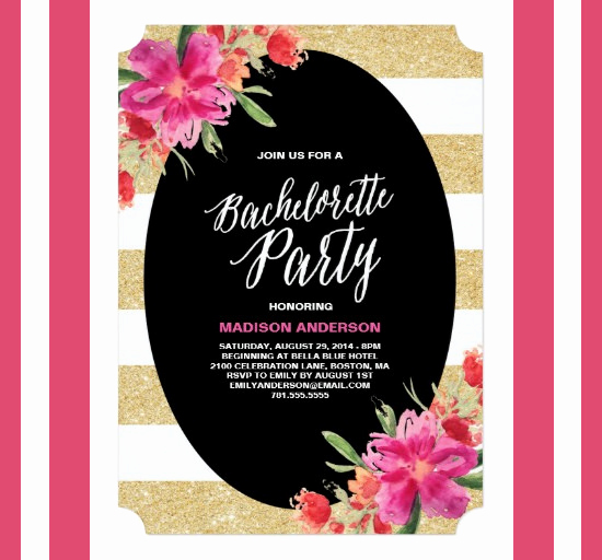 Bachelorette Party Invitation Template Best Of 41 Bachelorette Invitation Templates Psd Ai