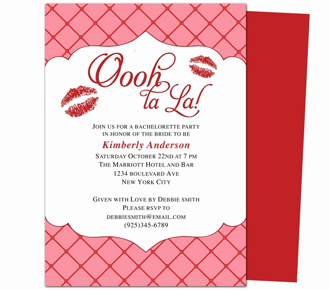 Bachelorette Party Invitation Template Best Of Printable Bachelorette Invitations Party Templates