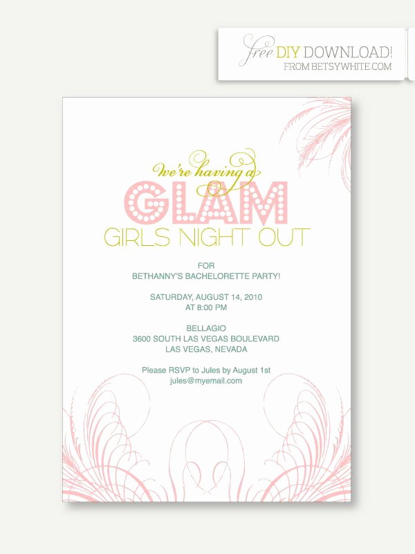 Bachelorette Party Invitation Template Inspirational 25 Best Images About Party Invitations On Pinterest