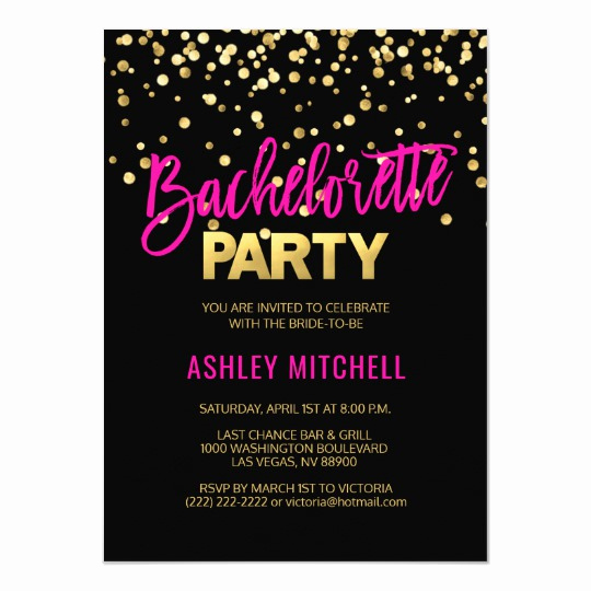 Bachelorette Party Invitation Template Inspirational Hot Pink Bachelorette Party Invitations Templates