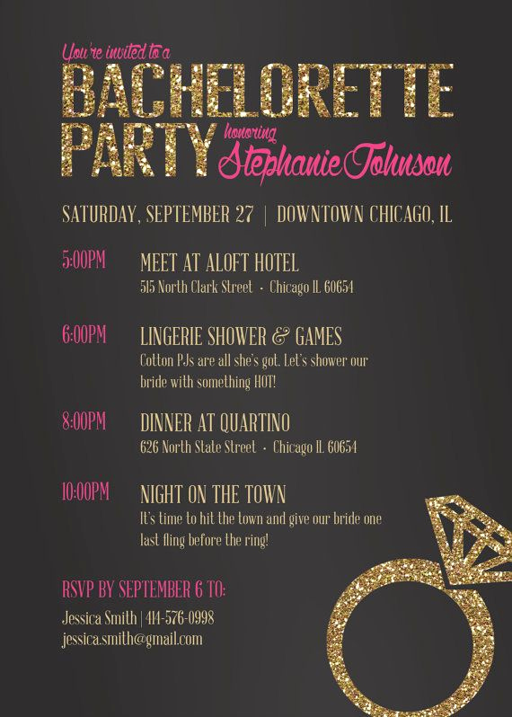 Bachelorette Party Invitation Template Luxury Best 25 Bachelorette Party Invitations Ideas On Pinterest