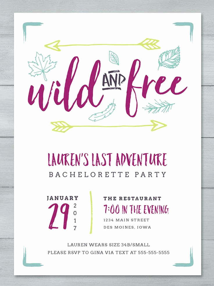 Bachelorette Party Invitation Template Luxury Best 25 Free Party Invitations Ideas On Pinterest