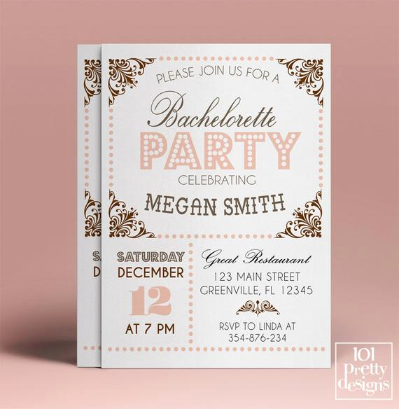 Bachelorette Party Invitation Template Unique Bachelorette Party Invitation Template Printable Bachelorette
