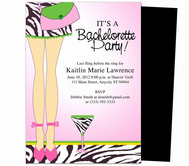 Bachelorette Party Invitation Template Unique Bachelorette Party Invitations Templates Legs