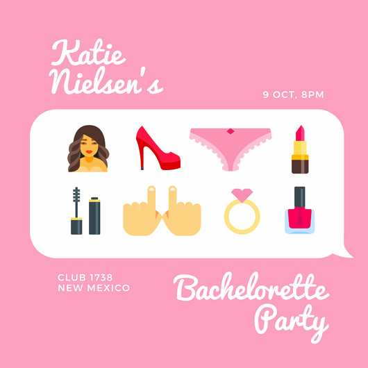 Bachelorette Party Invitation Template Unique Customize 104 Bachelorette Party Invitation Templates