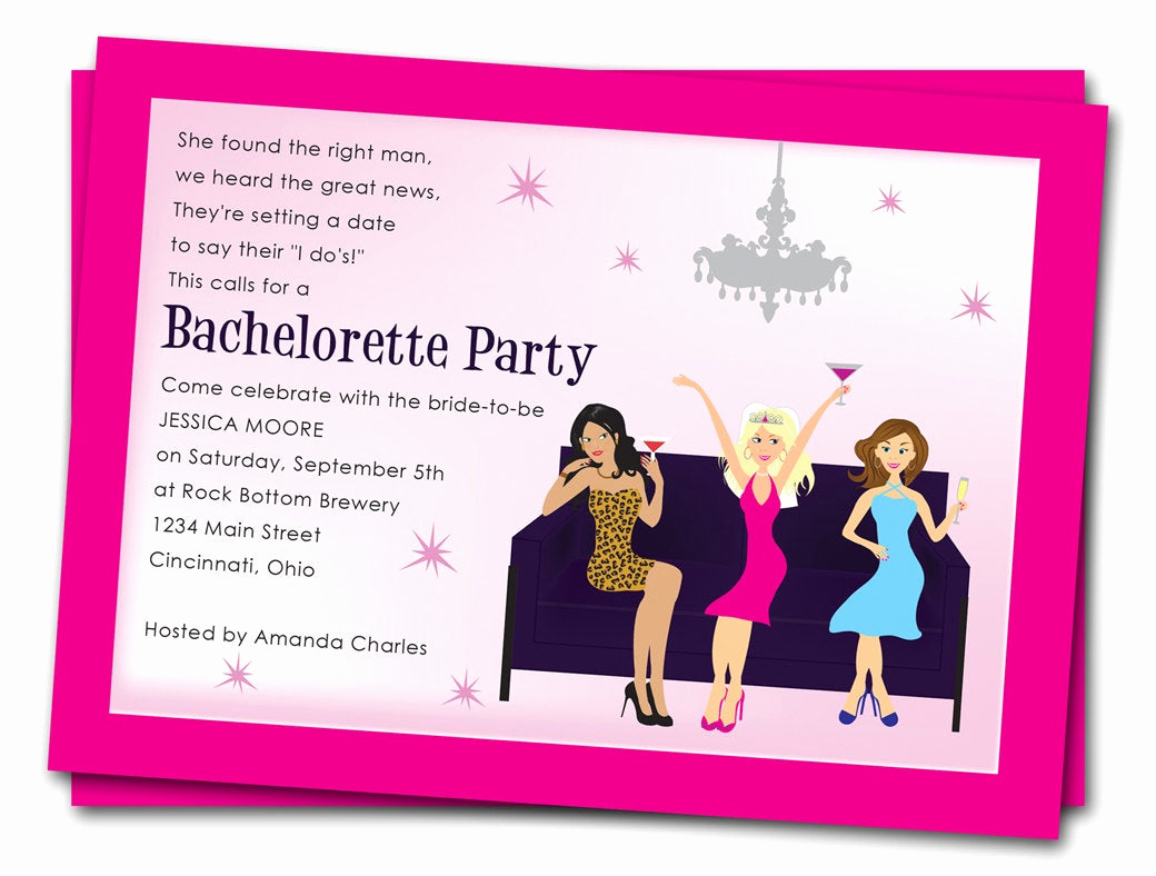 Bachelorette Party Invitation Template Unique Printable Bachelorette Party Invitations Girls by