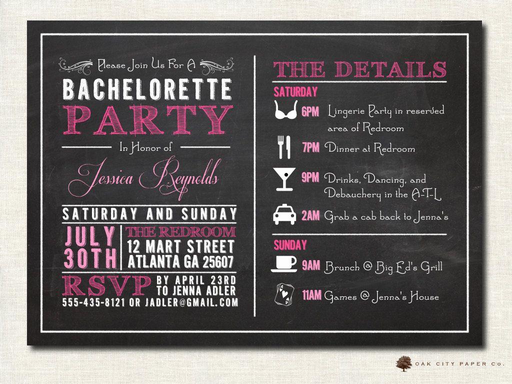 Bachelorette Party Invitation Templates Awesome Bachelorette Invitation Bachelorette Party Invitation